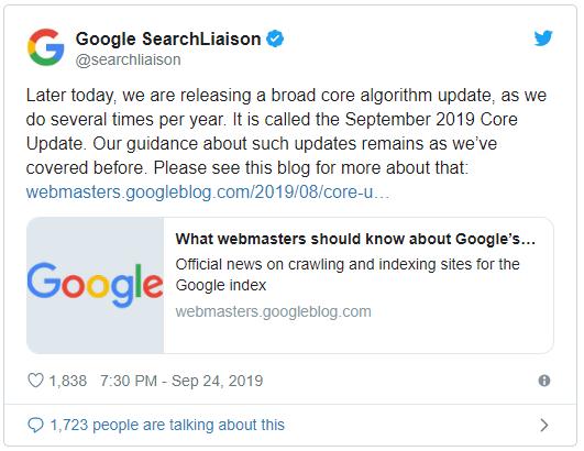 Broad Core update